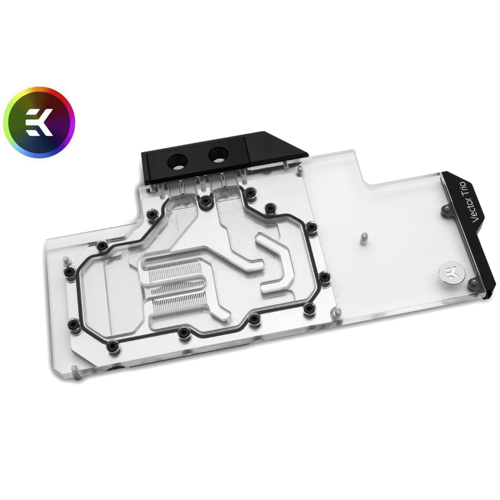 EK-Vector Trio RTX 2080 Ti RGB | nickel + plexi